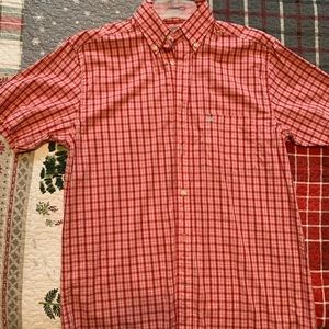 Southern Marsh Gingham plaid, SS, button down
